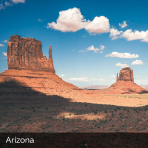 Arizona desert with red rock formations