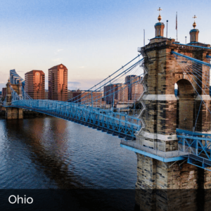 Ohio bridge over river