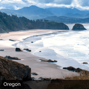 Oregon sandy coast in the mountains