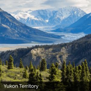 Yukon mountains in winter
